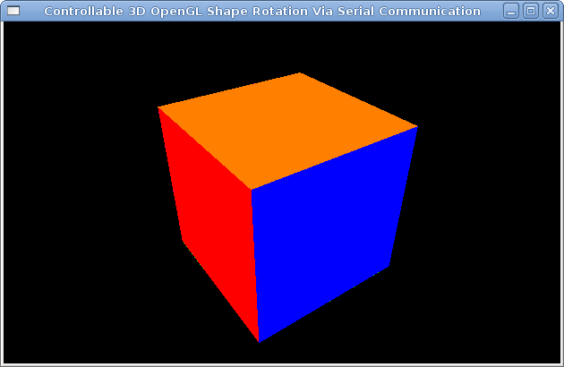 Arduino: Checking 3D shapes rotation with Python, OpenGL and