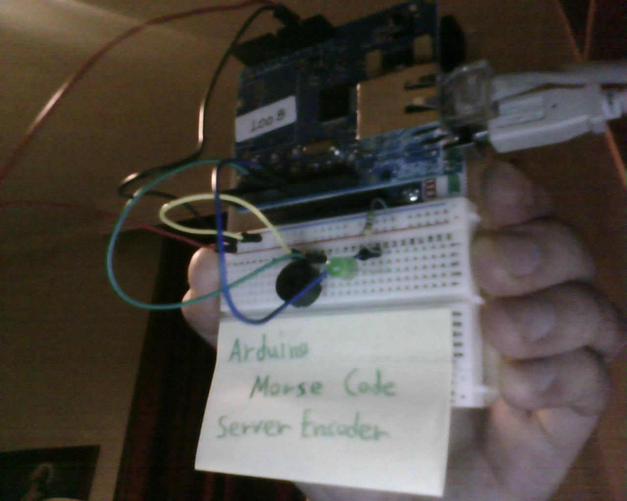 Arduino remote morse code web encoder efstathios
