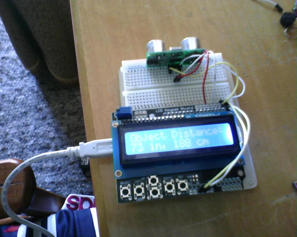 Arduino: Vehicle Parking Helper with Ultrasonic Sensor and LCD display. (1/3)
