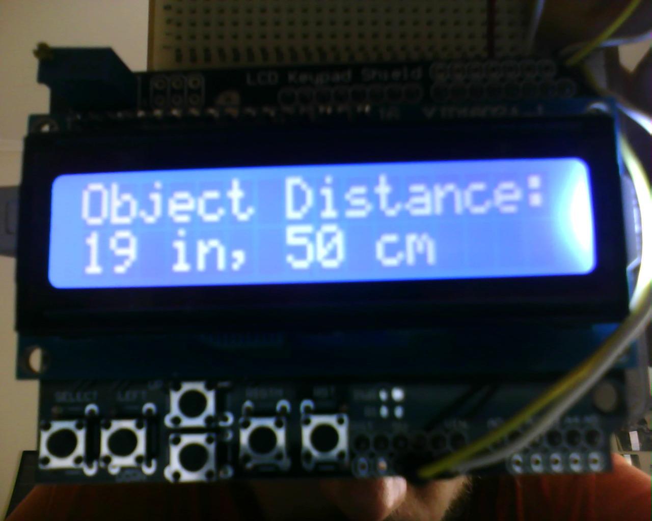Arduino vehicle parking helper with ultrasonic sensor and