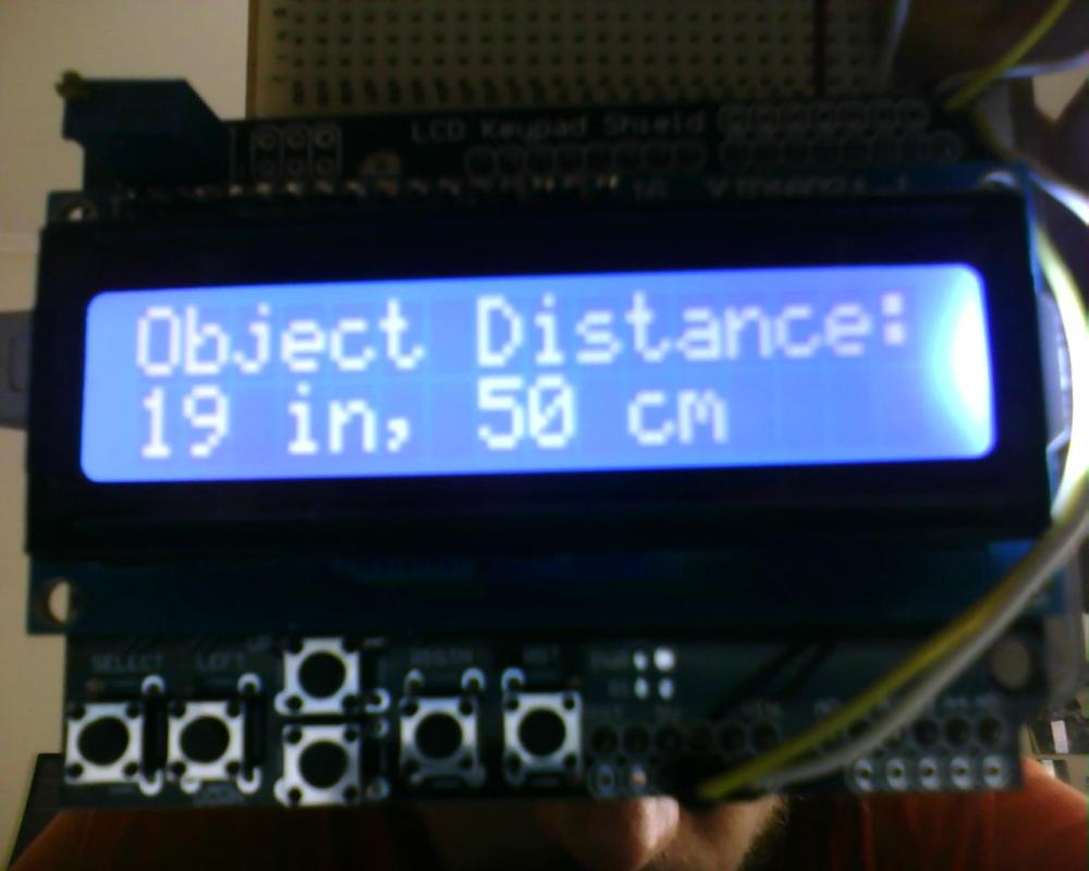 Arduino: Vehicle Parking Helper with Ultrasonic Sensor and LCD display. (2/3)